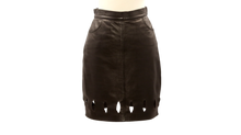 GIANNI VERSACE VERSUS LEATHER SKIRT