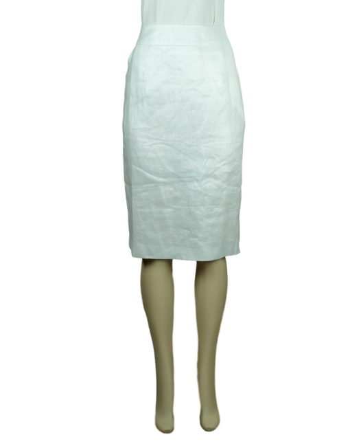 Ashley Stewart White Skirt Front - eKlozet Luxury Consignment
