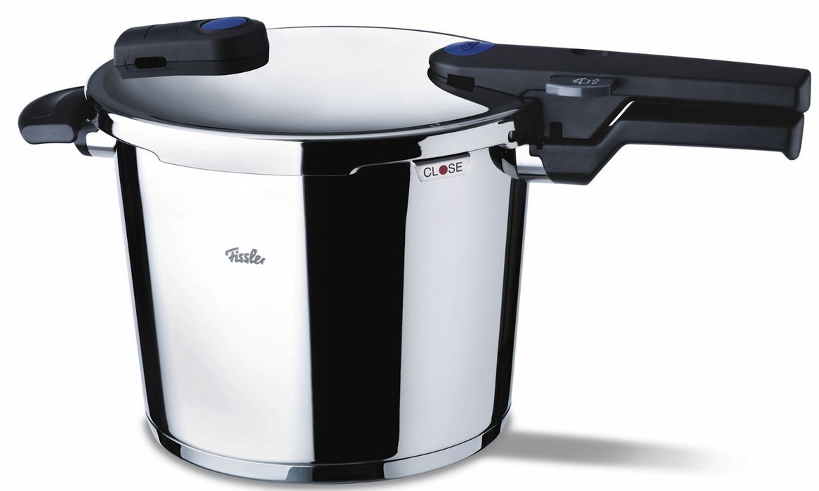 Fissler Vitaquick 6 L / 6.4 qt Pressure Cooker with Perforated Inset and Tripod