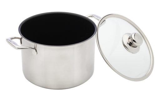 Nonstick Clad Stock Pot With Lid