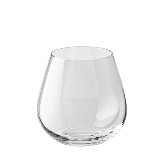 Stemless Red Glass