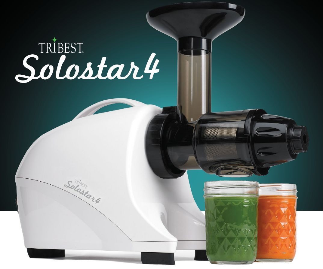 Tribest Solostar 4 Horizontal Slow Masticating Juicer Fruit Vegetable SS-4200-B
