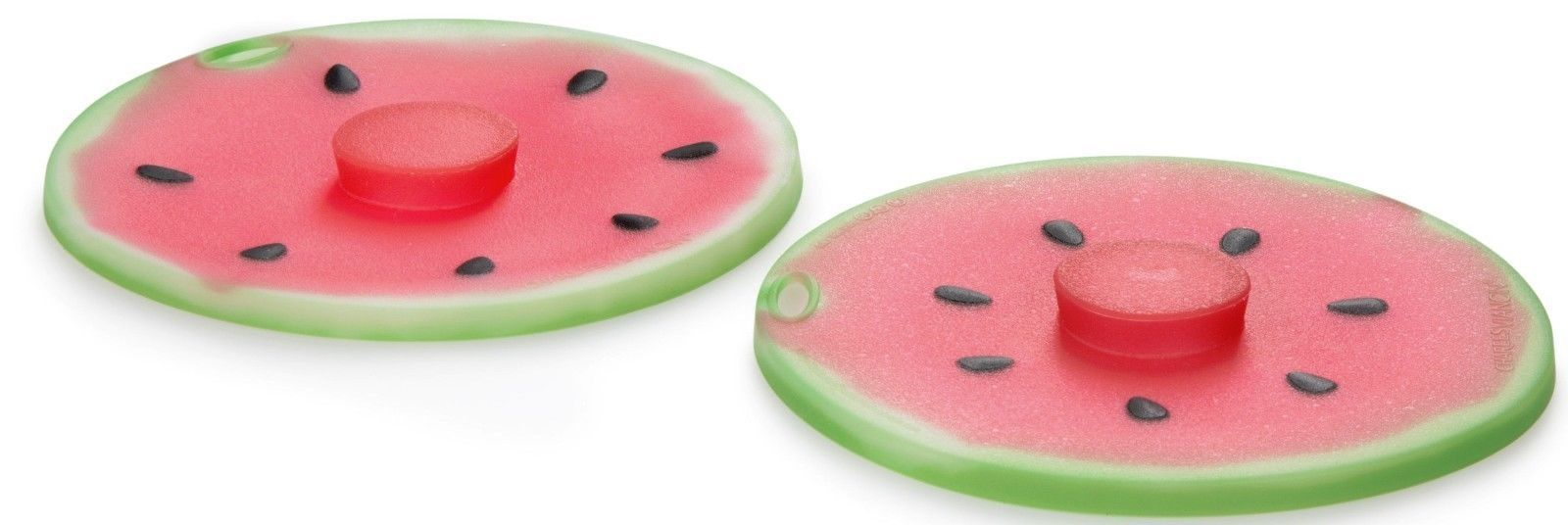 Charles Viancin 5 Pc Food Storage Reusable Silicone Suction Lid Set Watermelon
