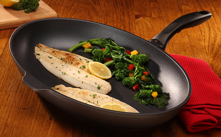 Oval Fish Pan with Lid