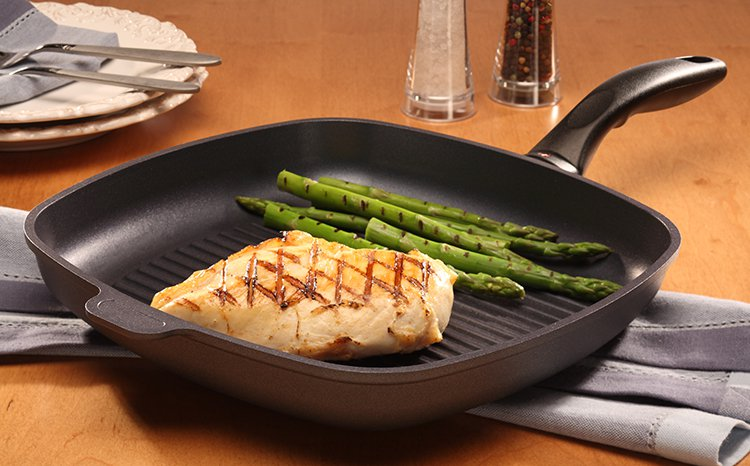 Swiss Diamond Induction Nonstick Square Grill Pan - 11 X 11""