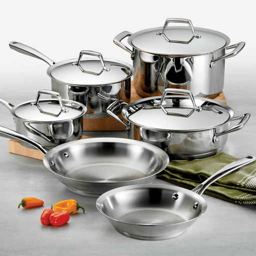 Tramontina Gourmet Prima Stainless Steel 10 Piece Cookware Set