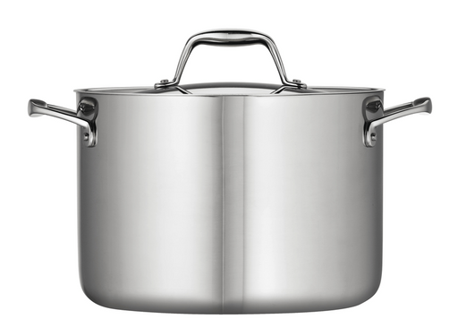 Tramontina Gourmet 8 Qt Tri-Ply Clad Stainless Steel Covered Stock Pot