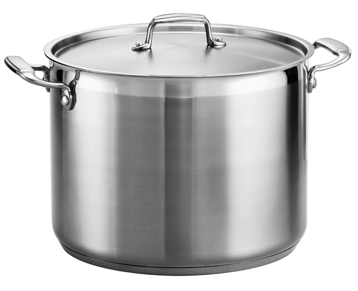 Gourmet 16 Qt Stainless Steel Covered Stock Pot