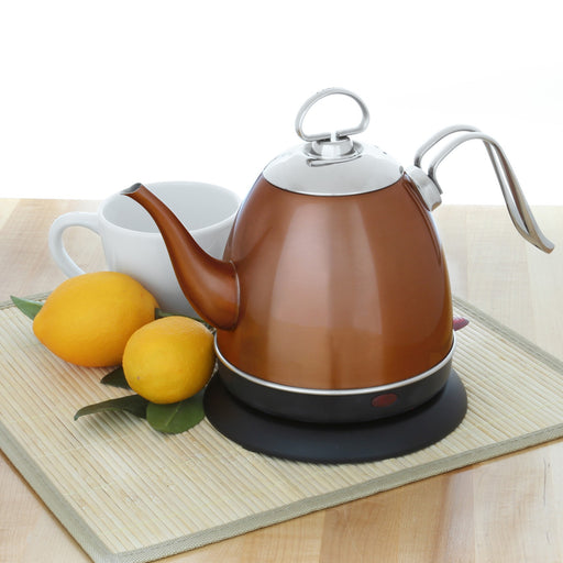 Electric Water Kettle Copper Finish