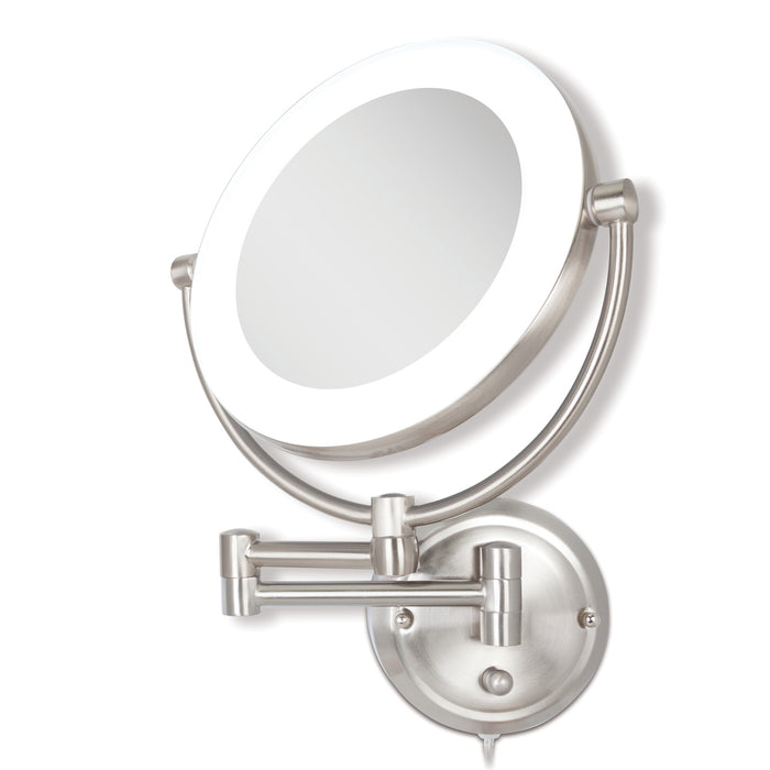 Fluorescent Wall-Mount Mirror