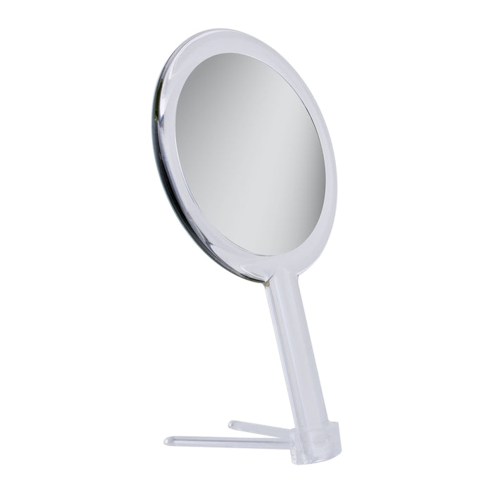 Zadro Clear Acrylic Dual-Sided Hand Held Mirror (1X/5X)