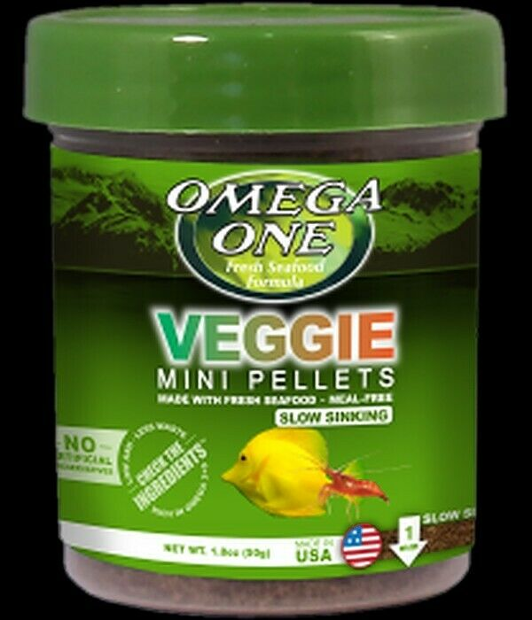 Omega One Super Color Mini Veggie Pellets 3.5oz Slow sinking