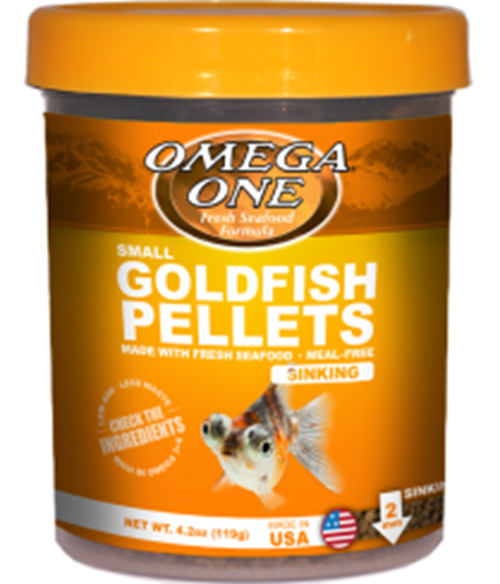 Omega One Goldfish Pellets SINKING