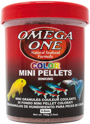 Omega One Color MINI Pellets SLOW Sinking