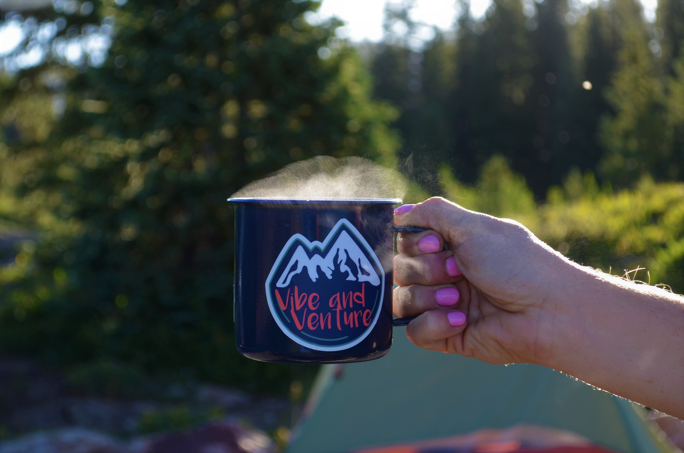 Vibe and Venture On Mountain Time Mug
