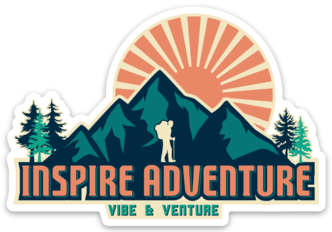 Inspire Adventure Sticker from Vibe and Venture