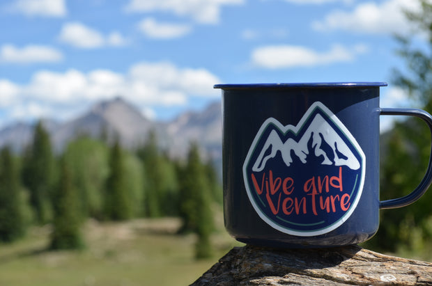 Vibe and Venture Mountain Sticker