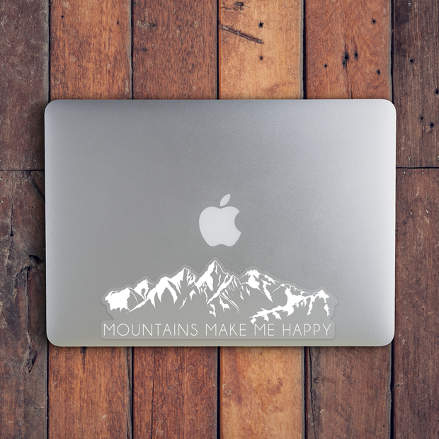 Mountains Make Me Happy Sticker from Vibe and Venture