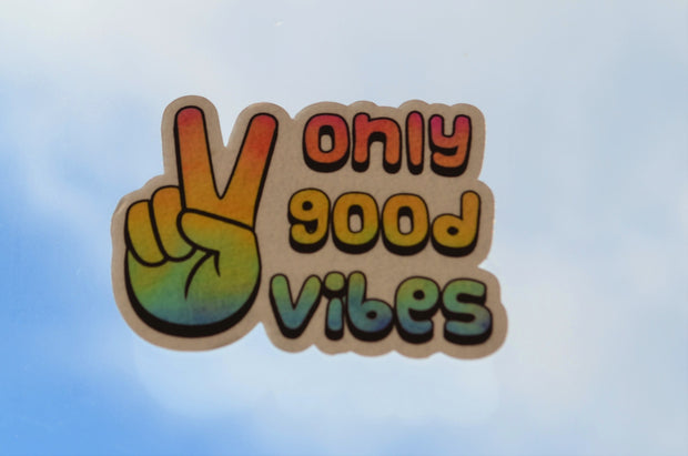 Vibe and Venture Only Good Vibes Sticker (Tie Dye)