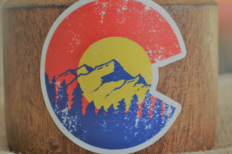 Vibe and Venture Colorado C with mountains Sticker