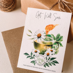 Plantable Get Well Card That Grows Into Chamomile