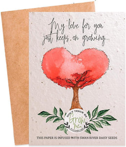 Plantable Love Card That Grows Into Swan River Daisy