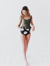 Olive Peplum Top