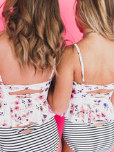 Floral Bow Back Top
