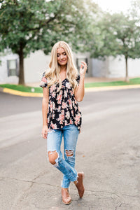 Watercolor Floral Top