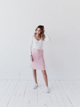 Striped Pink Midi Skirt