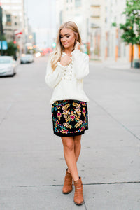 Zuri Embroidered Skirt