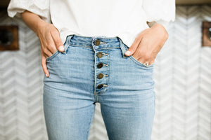 5 Button High Rise Jeans
