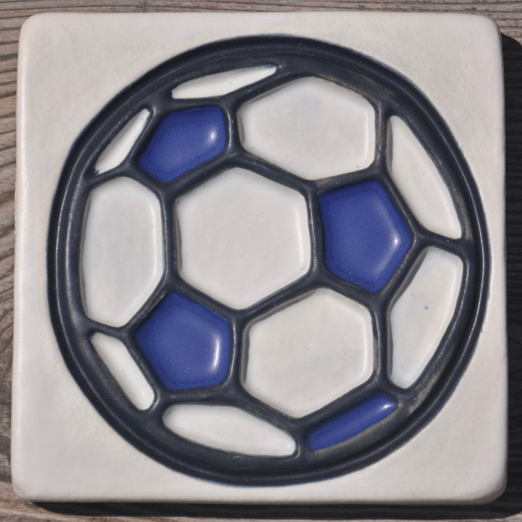 Soccer Ball, World Cup 2018, Futbol, Football, Athlete, Sports, Art Tile, Ceramic Wall Art, Wall Decor, Handmade Art, Kids Room Decor, Boys Room Decor, Boys Birthday Gift, Fathers Day Gift, Midwest United FC, Youth Soccer, Kids Sports