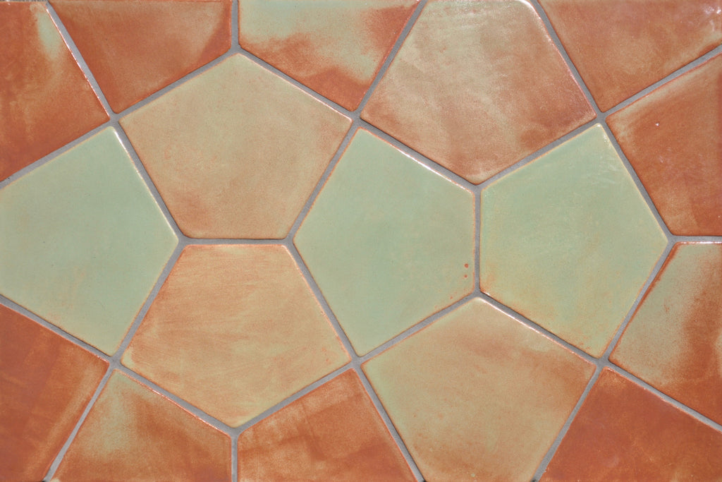 Floret Tile, Handmade Tile, Ceramic Tile, Hexagon Tile, Blue Tile, Northern Michigan, Cottage, Cabin Decor, Lakeside Home, Luxury Home, Handcrafted, Handpainted, Geometric Tile, Backsplash, Kitchen Tile, Bathroom Tile, Shower Tile, Home Decor Interior Design, Kite Tile, Metallic Ceramic Tile, Zig Zag, Shape Tile, Texture Ceramic Tile, Lace, Pentagon Tile