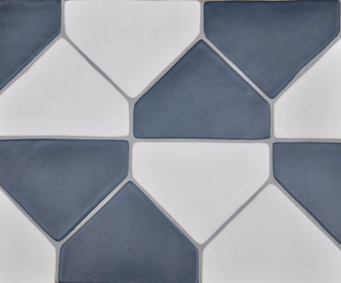 Polygon, Hexagon Tile, Black & White, Shape Tile, Ceramic Tile, Handmade Tile, Backsplash, Kitchen Tile, Bathroom Tile, Flooring, Fireplace Tile, Interior Design, Home Decor, Northern Michigan, Made in USA