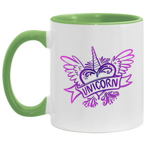Heart and Wings Unicorn Mug