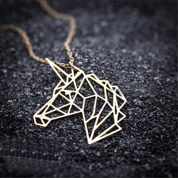 Geometric Unicorn Necklace