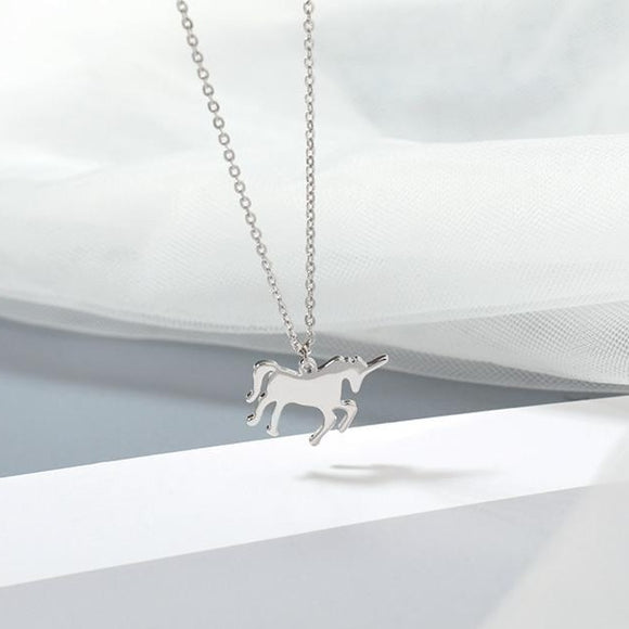 Stainless Steel Unicorn Necklace