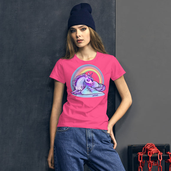 Women's Rainbow & Unicorn T-Shirt