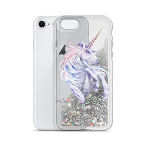Liquid Glitter Geometric Unicorn Phone Case