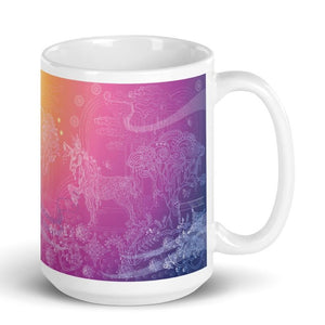 Unicorn in Forest Mug