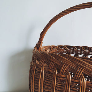 Large Wicker Basket - mid century