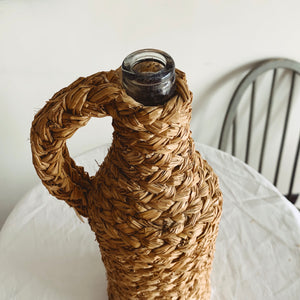 Straw Covered Glass Bottle - MAULE & MAULE