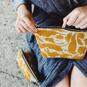 Linen Wash Bag - 'Yellow' - MAULE & MAULE