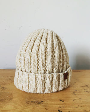 Atlantic Beanie in natural - MAULE & MAULE