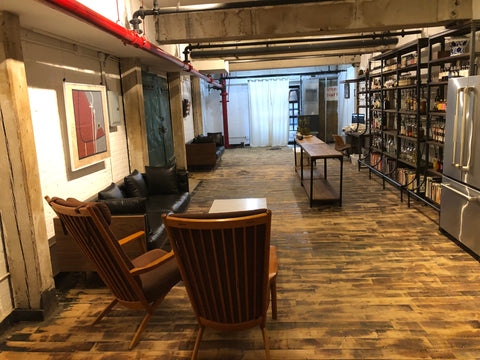 our original showroom at 67 west street in brooklyn in july of 2019