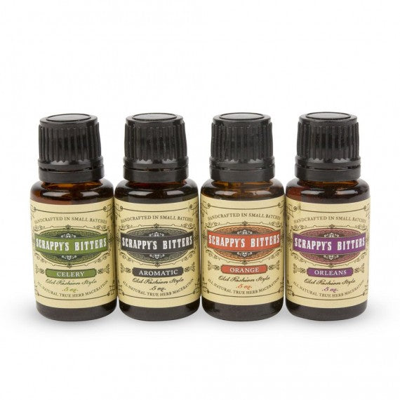 Scrappy's <br><b>Classic Sampler </b></br>0.5 Ounce Bottles (4)