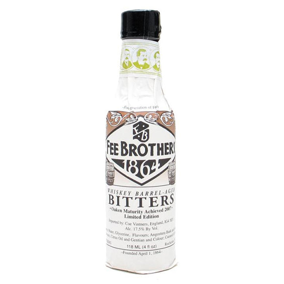 Fee Brothers Whiskey Barrel-Aged Aromatic Bitters | Pure Goods