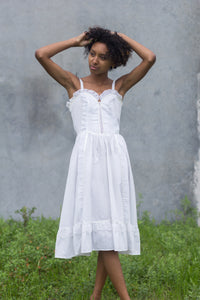 Gunne Sax White Prairie Dress