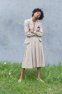 Vintage Ecru Skirt Suit